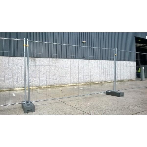 Werfhek 3,50m + 1 betonvoet
