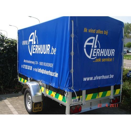 Aanhangwagen met huif laadvermogen 500 kg / 2...
