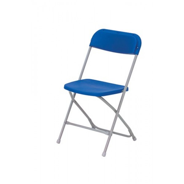 Blauwe PVC klapstoel (< dan 100 stuks)