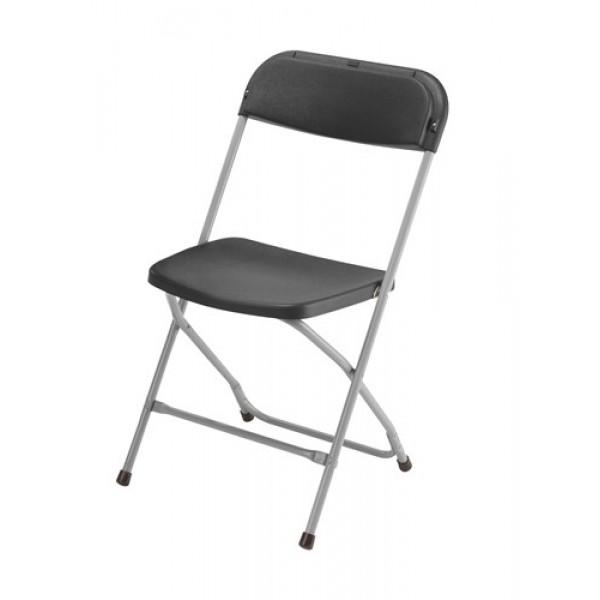 Zwarte PVC Klapstoel (< 100 stuks)