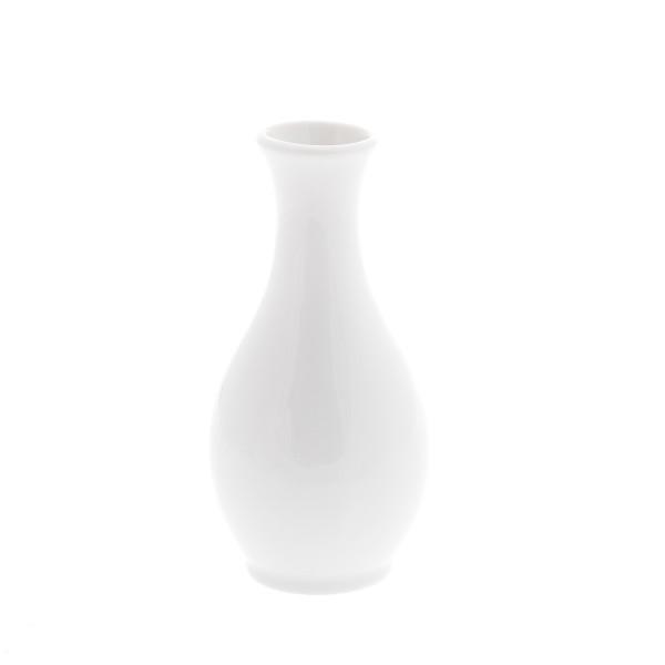 Vaasje - wit porselein - 13 cm