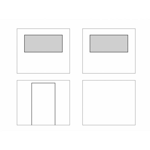 Set zijkanten voor partytent 3x3m en 4x4m