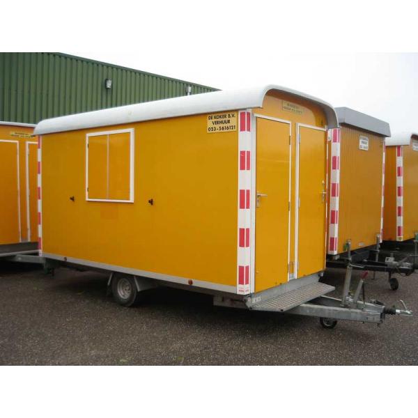 Schaftwagen 4m x 2m met toilet