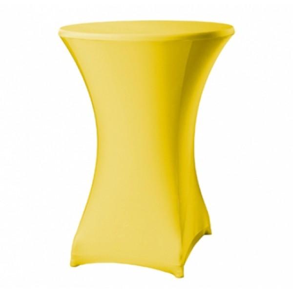 Receptietafelrok - stretch - geel