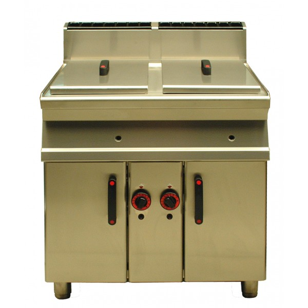 Friteuse industriel 2 x 18l - gas